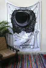 Tarot Tapestry Small Wall Hanging Magical The Moon Bedspread Hippie Tapestries