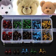 100pcs Teddy Puppen Augen 8mm 5 Farben Plüschtier Sicherheitsaugen bunt diy set