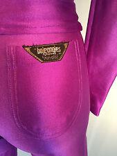 Disco Spandex Pants Jacket Set Purple Vintage Bojeangles Jeans Size 3/4