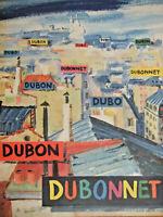 PUBLICITÉ DE PRESSE 1954 PAS DE MAISON SANS DUBONNET - DRAEGER