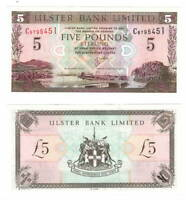 NORTHERN IRELAND Ulster Bank UNC 5 Pounds (2001) P-335c Banknote Paper Money