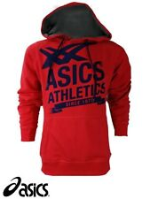 Asics Men's Size Large Athletic Red Hoody Hoodie Hooded Fleece