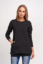 Elegant Maternity Blouse with Pockets Hip Length Size 8-14 FA455