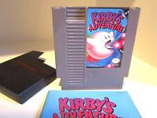 Kirbys Adventure NES Nintendo entertainment system Game & Manual