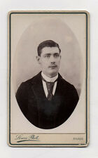 CDV Carte de visite Photo Homme LOUIS à Paris Vers 1900 Moustaches Cravate