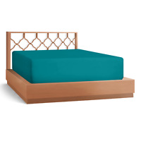 """21"""" Extra Deep Pocket Ultra Soft Fitted Sheet with Corner Straps, King-Teal Blue"""