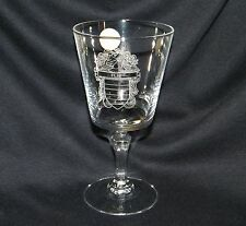 FLIS Coat of Arms Genuine Lead Crystal France - Family Crest Wine Glass Goblet
