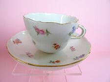 Meissen Kaffeetasse Tasse mit Untertasse Streublümchen Streublume 1.Wahl,