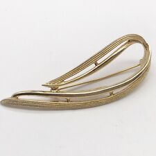 VINTAGE MODERNIST GOLD TONE CANADA SARAH COV COVENTRY LADIES PIN BROOCH