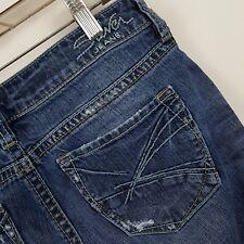 Silver Lola Distress Boot Cut Women's Dark Wash Blue Jeans Size 28 - 30 x 31