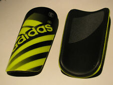 Adidas Youth Young Adult Ghost Guard Yellow Soccer Shin Protection with Sleeve