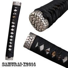 Real Rayskin Black Tsuka High-grade Handle for Japanese Samurai Katana sword