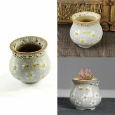 Hand Painted Bee Retro Flower Pot Ceramic Pot Minimalist Creative Stoneware