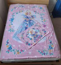 Vintage Mattel Barbie Single Duvet Cover Pillowcase Set 1996 VGC Reversible pink