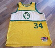 Boston Celtics Paul Pierce 34 Reebok Jersey 1914-1915 D'Funkd Throwback XL