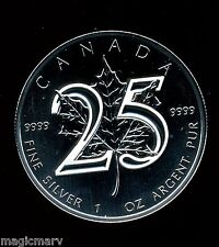 2013 Silver 25th Anniversary Canadian Maple Leaf - BU Mint condition all