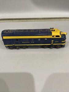 Pt2) TYCO Mantua Santa Fe HO Scale F7A Diesel Locomotive Model Train 4015