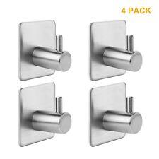 Bathroom Towel Hook Shower Kitchen Strong Adhesive Easy Install Wall Door 4PACK
