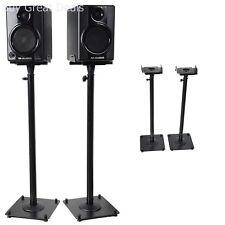 Studio Monitor Speaker Stand Theater Floor Loud Height Adjustable Pair DJ Party