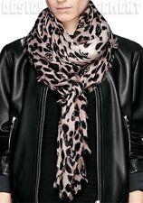 "ALEXANDER MCQUEEN powder SKULL Leopard print 52""-Square cashmere shawl NEW Auth"