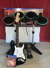 Rock Band 4 PS4 Band in a Box With Guitar, Drums, Mic with Box USED Great Cond