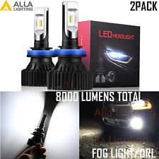 Alla Lighting H9 Driving Light|Headlight,Bright White,Fits Projector & Reflector