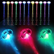 Newest  Light-up Fiber Optic Led Multicolor Hair Lights Rave Party Hair Decor G