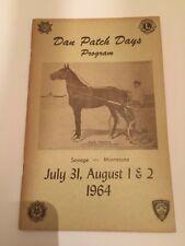 Vintage 1964 Dan Patch Days Program Savage Minnesota