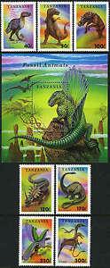 Tanzania 1217-1223,1224, MI 1767-1774 Bl.250, MNH.Fossil animals:Dinosaurs,1994