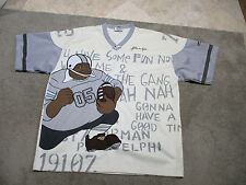 VINTAGE Fubu Platinum Fat Albert Football Jersey Adult 2XL XXL White Hip Hop 90s
