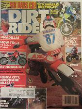 Dirt Rider Magazine November 1986 Unadilla YZ Enduro Project Honda CRs Yamaha TT