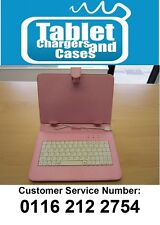 "Pink USB Keyboard Carry Folder Case for CnM 9 inch Touchpad 9"" Versus Tablet"