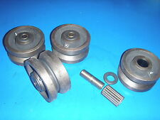 "V Groove Casters Heavy Duty 4""  CARRIAGE/SAWMILL WHEELS SET OF FOUR WHEELS"