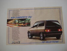 advertising Pubblicità 1991 AUTOBIANCHI Y10 Y 10 SELECTRONIC