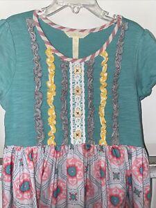 Matilda Jane Girls Short Sleeve Dress Size 8 Yrs