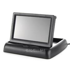"4.3"" Foldable TFT LCD Monitor+Car Rear View System Backup Reverse Camera E0Xc"