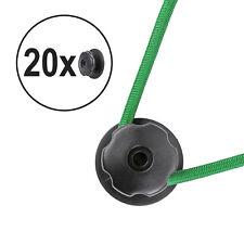 20x Planenhaken rund Kunststoff Ø 25 mm schwarz 6mm Bohrung