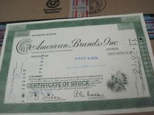 100 sh 1972 OLD CANCELED STOCK CERTIFICATE AMERICAN BRANDS INC.