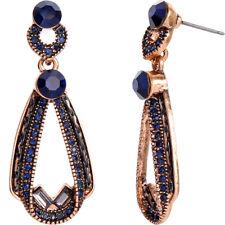 BJ New beauty Blue crystal Alloy Drop Earrings dangle women Paty Fashion Jewelry