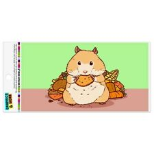 Hamster Eating Stash of Food Automotive Car Refrigerator Locker Vinyl Magnet