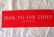 Radiohead Hail to The Thief Promo Sticker - Red