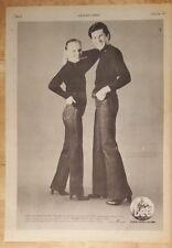 Lee Jeans western San Marino vintage 1977 press advert Full page 28x39 cm poster