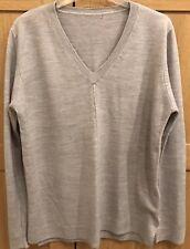 Primark Grey V-neck Jumper - Size 14