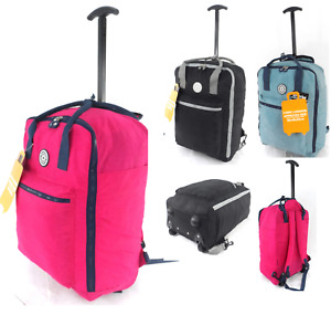 """18"""" Cabin Approved Bag Wheeled Carry On Flight Luggage Trolley Case Bag Backpack"""