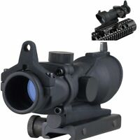 VERY100 1x32 Red/Green Illumination Dot Sight Rifle Scope with 20mm Weave Mount