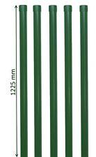 5 Zaunpfähle rund Metall grün Ø 34 mm f. 1m Zaun-Anlage Schweiß-gitterdraht 6005