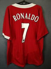 VINTAGE RONALDO MANCHESTER UNITED 2004/2006 FOOTBALL SOCCER SHIRT JERSEY SIZE XL