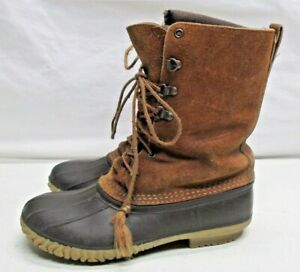 LaCrosse Leather Rubber Insulated Winter Boots Made In USA Womens Size 9 Liners