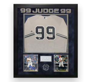 Aaron Judge Signed Autographed Jersey Framed to 32x40 Fanatics