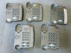 5 x BT converse 1200 036262 Grey Cored Handfree Phones No Handset & Stand